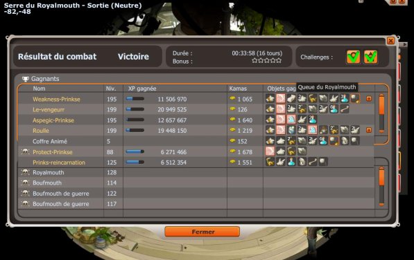 Record d'xp Royalmouth de la team !