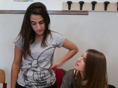 My friends chiara and diandra....kiss!!!!