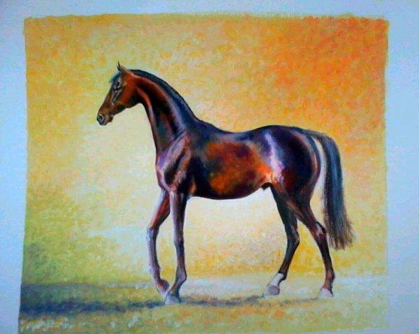 Gouache 23 X 23 papier aquarelle