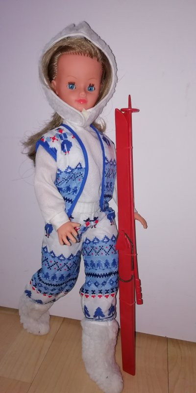 En tenue de ski  Cortina 1982