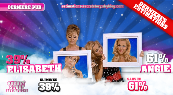 ESTIMATIONS DES SIXIEMES NOMINATIONS: ELISABETH / ANGIE