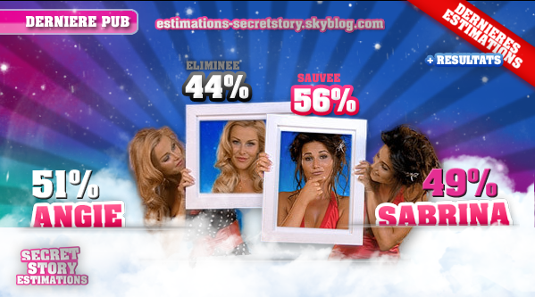 ESTIMATIONS DES DIXIEMES NOMINATIONS: ANGIE / SABRINA