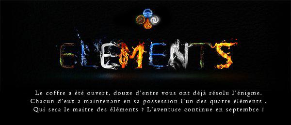 ELEMENTS : L'AVENTURE CONTINUE DIMANCHE DES 19H !