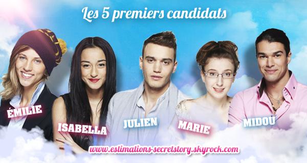"""Les 5 premiers candidats """"officiels"""" !"""