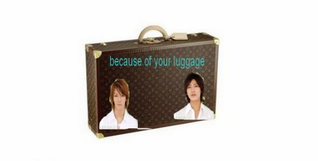 Because of your luggage = A cause de ta valise (ma premiere fic) Résumé =)