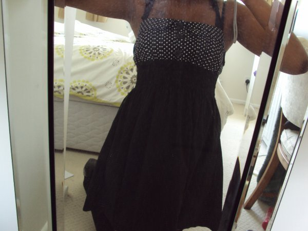 robe coupe babydoll & serre-tête assorti