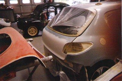 Préparation de ma 206 avec le kit carrosserie complet CARCEPT