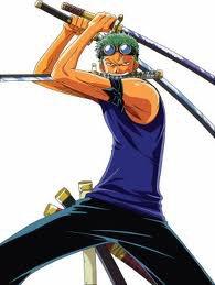 Je suis Zoro celui qui veut devenir le plus grand magneur de sabre!