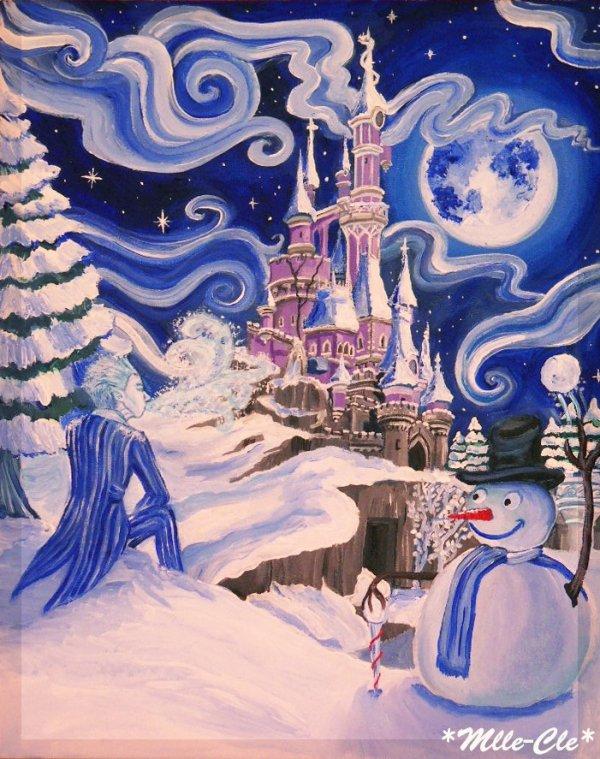 Frost soufflant sur Disney