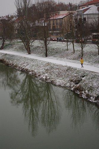 Metz sous la neige