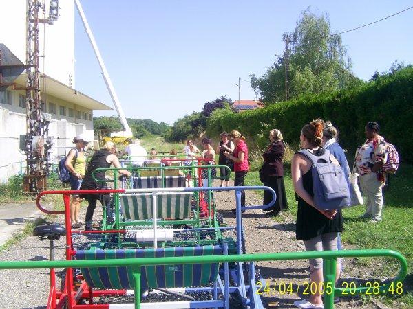 Journée Vélo rail à Vigy avec mon groupe d'action social