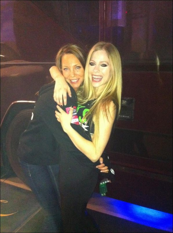 Avril et sa meilleure amie!