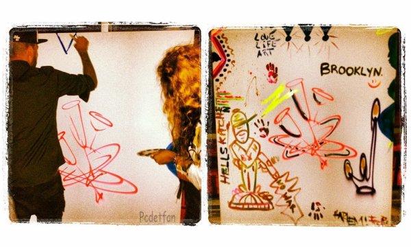 Peinture faite par Swizz Beatz, Alicia Keys, Jay-Z & Beyoncé