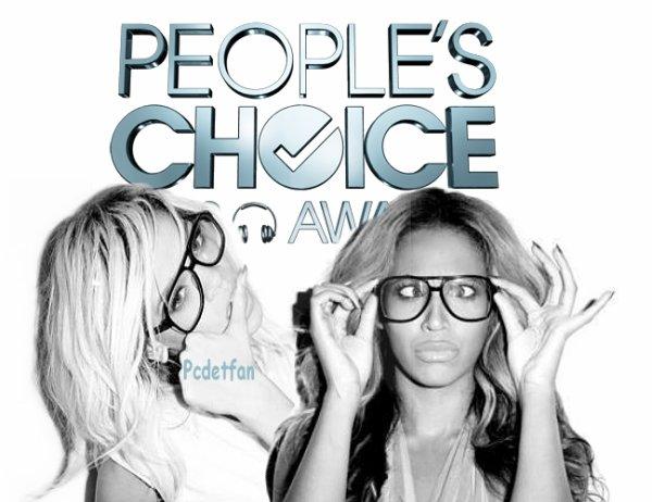 Riri et Beyoncé nominé au People's Choice Awards de 2013