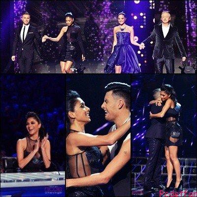20/10/12 : Nicole sur le plateau de X-Factor