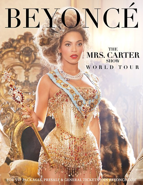 "Beyonce confirme le ""Mrs. Carter Show World Tour"""