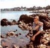 Claude à la plage .