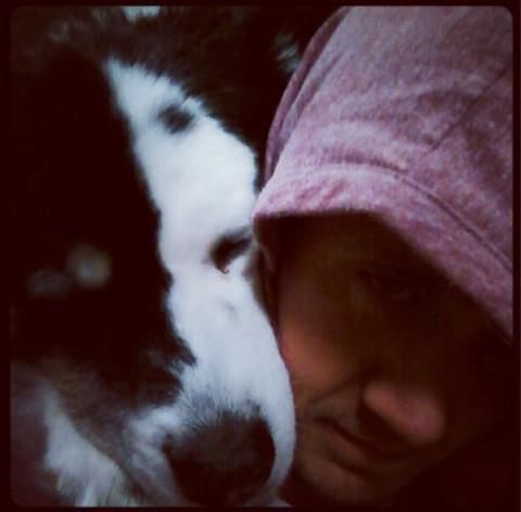 "Chad & his dog ""Powder""!"