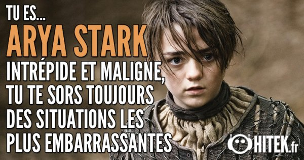 Quel Personnage de Game of Throne es-tu ?