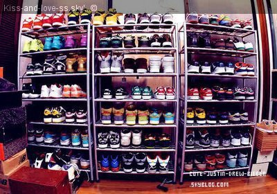 Placard A Chaussures De Justin Bieber