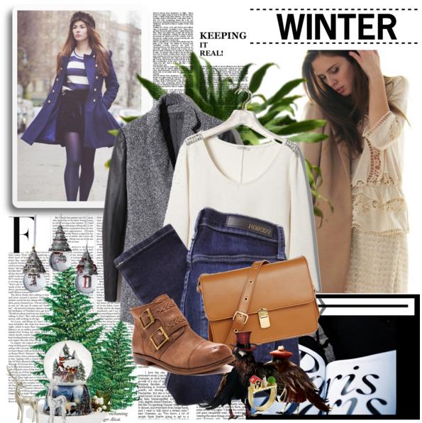 En pleine période d'hiver, je vous ai crée une tenue d'hiver simple, basique, confortable et sympa.