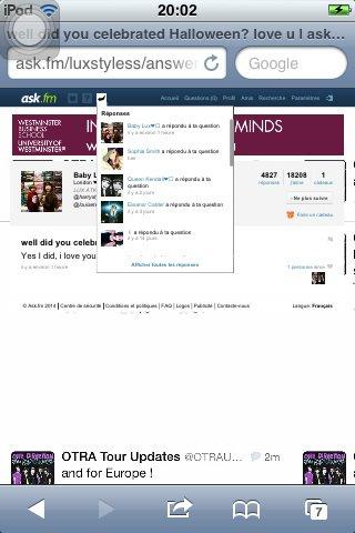 Eleanor et Kendall jenner et d'autres m'ont  repondu sur ask!!!!!! meme baby lux!!et sophia smith!