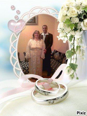 mon mari et moi le jour de notre mariage