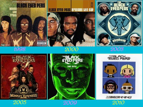 LES ALBUMS DES BLACK EYDE PEAS :