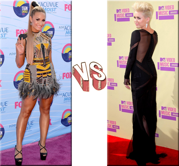 VS de Stars - Stars de Disney Demi Lovato VS Miley Cyrus.
