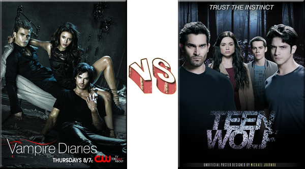 VS de Séries The Vampire Diaries VS Teen Wolf.