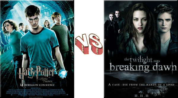 VS de Films Harry Potter VS Twilight.