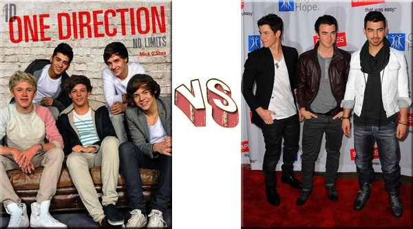 VS de Stars One Direction VS Jonas Brothers.