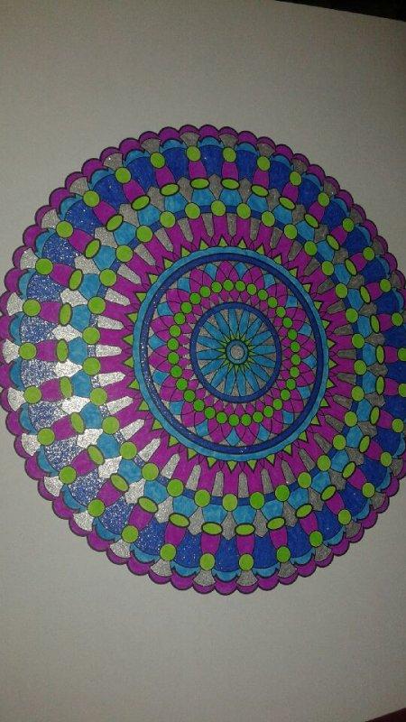 Art thérapie : Carnet de Mandalas. Coloriage  Lucyle.