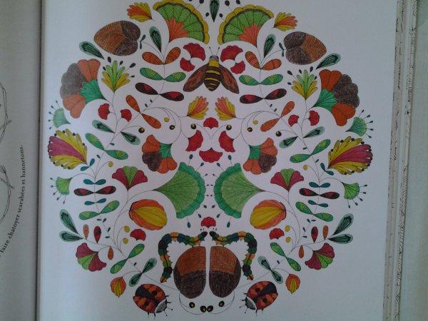 Animaux fantastiques art thérapie : l'abeille, les coccinelles et les chenilles