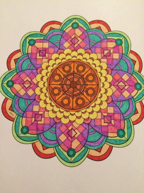 Art thérapie : carnet de mandalas.  Coloriage Lauryne