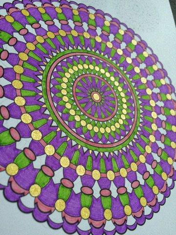 Carnet de Mandalas. Coloriage de Lauryne
