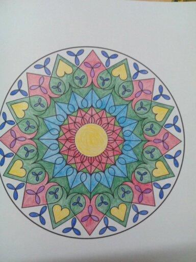 Mandalas. Coloriage de Papa