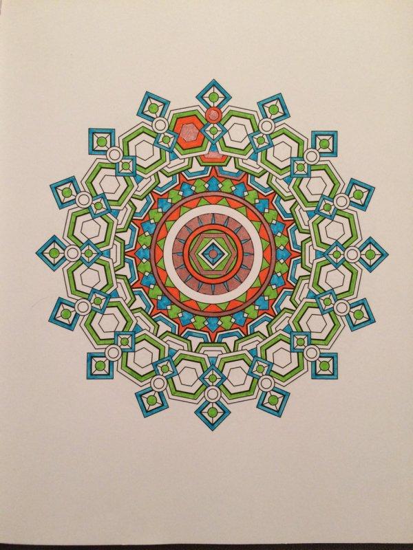 Mandalas art thérapie. Coloriage de Lauryne