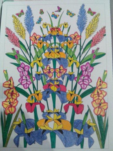 Aux sources du bien être,  jardins zen.  Coloriage Nini