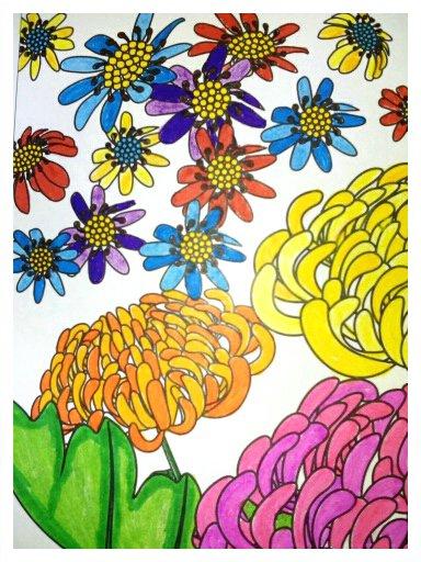 Aux sources du bien être,  jardins zen.  Coloriages Nini