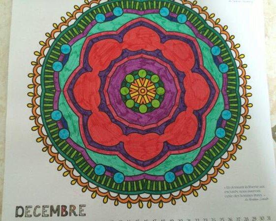 Mandala art thérapie  Lauryne