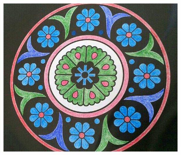 Kaleïdo color. Coloriage de Papa