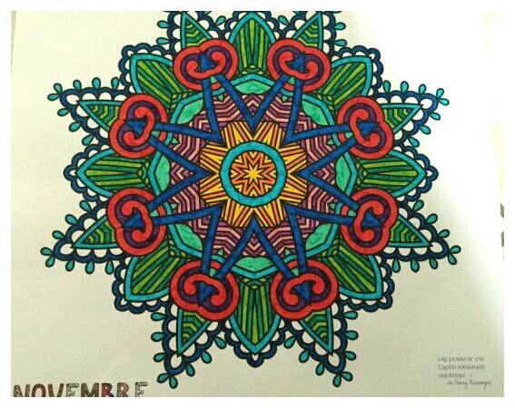 Mandalas. Coloriage de Lauryne