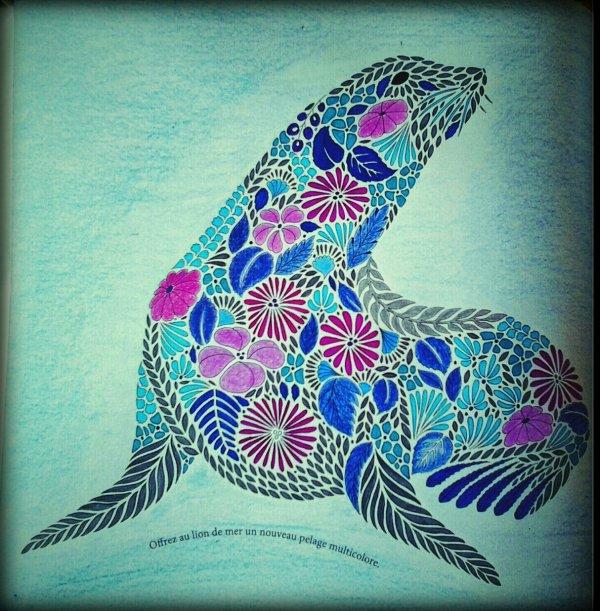 Art thérapie : Animaux fantastiques. Le lion de mer
