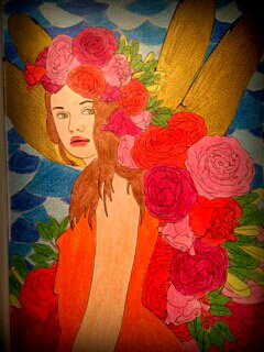 Art thérapie : printemps.  Coloriage Lauryne