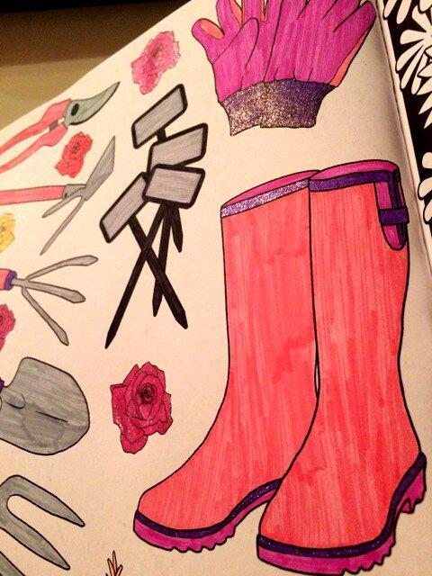 Art thérapie : printemps.  Coloriage Lauryne