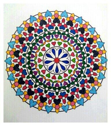 Mandala. Coloriage de Papa