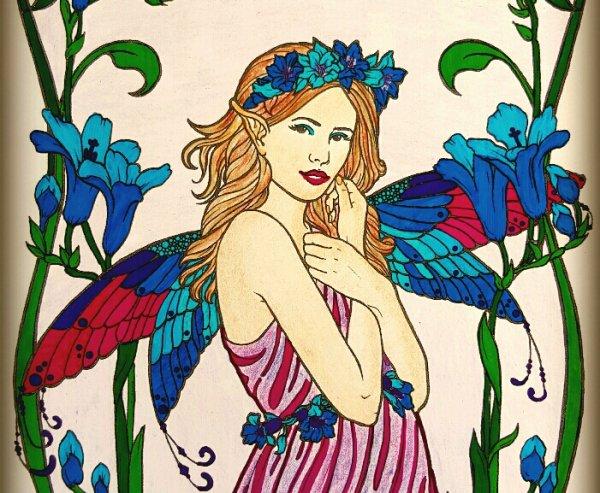 Art thérapie : floral fairies