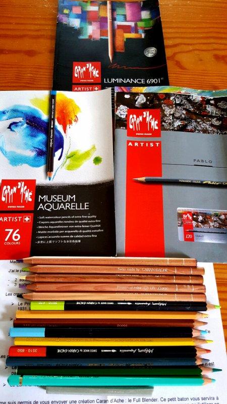 Test crayons Caran d'Ache