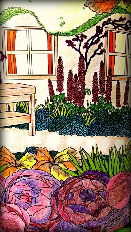 Art thérapie : printemps.  Coloriage Ticia